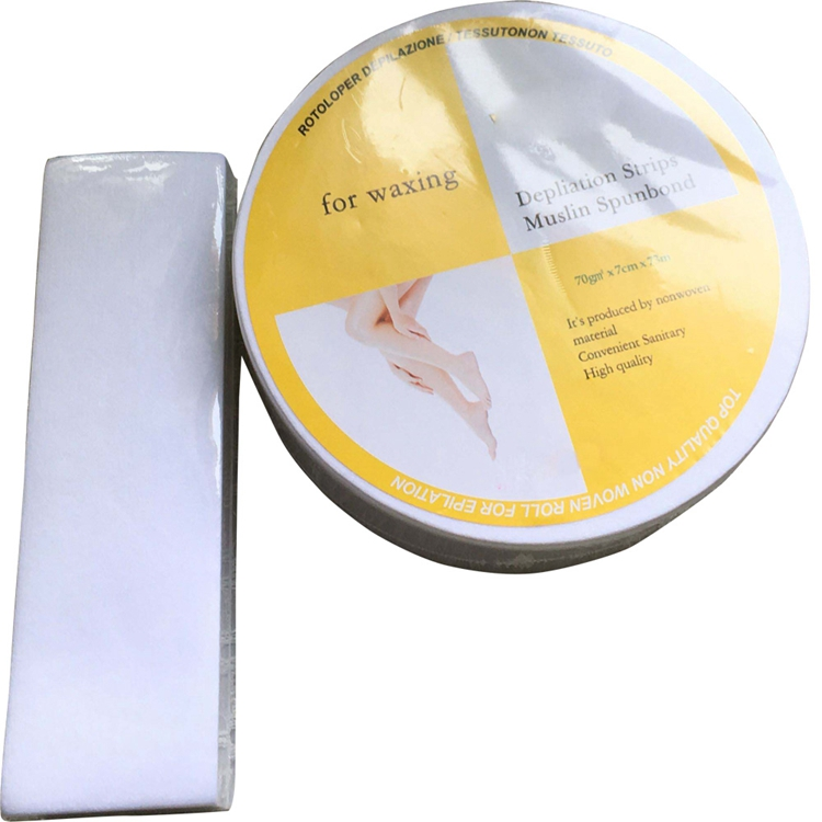Nonwoven disposable waxing strip rolls hair removal roll-on wax cartridge heater waxing strips