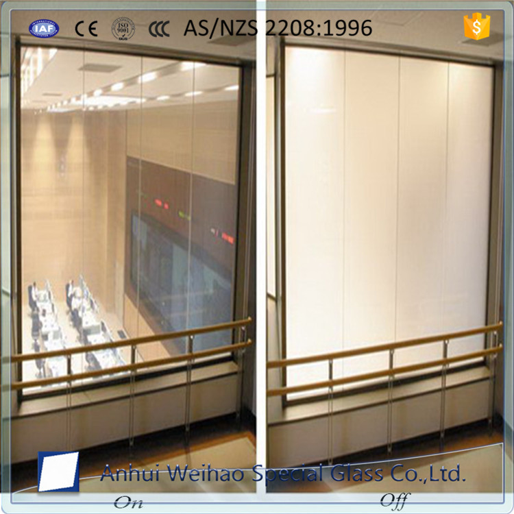 China electric switchable pdlc pricavy tempered glass for partition