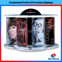 Wholesale customized design hair cutting scissor accessories display stand