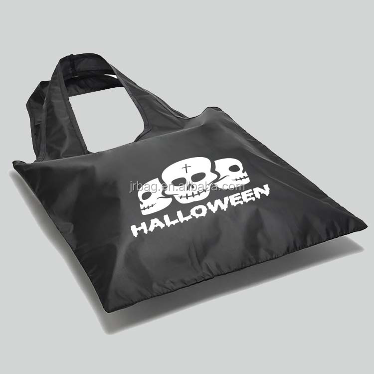 Black halloween candy bag