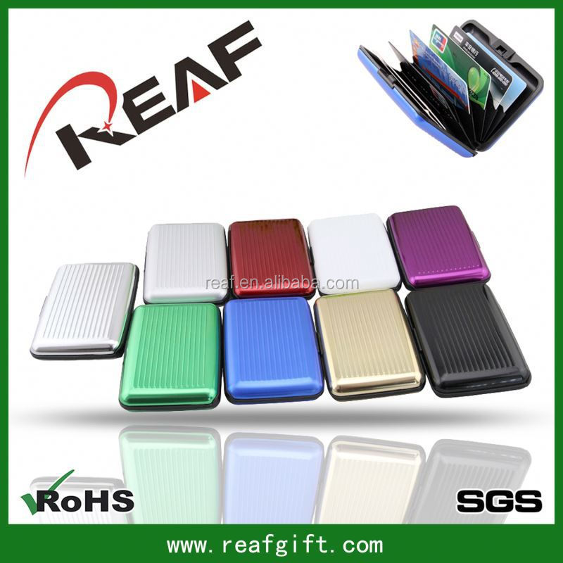 factory supply Stripe waterproof identify thief free aluminum card holder