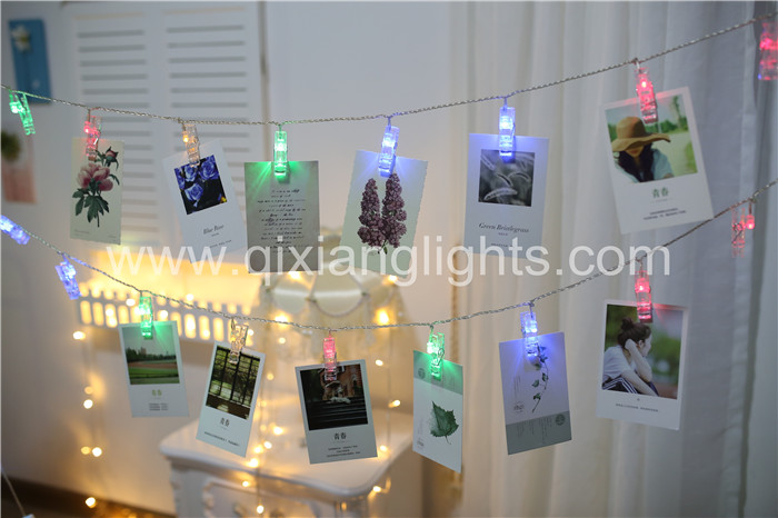 2016 Best sales LED lights,Photo clip,softly fragrant room decoration Christmas