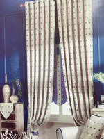 2015 New design Luxury Polyester BlackoutJacquard linen Fabric Curtain