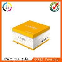 Eco-friendly nice yellow cake boxes with logo