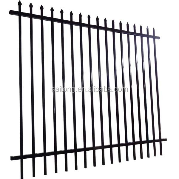 Secure industrial ornamental iron fence/fencing panels designs for sale