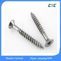 Blue White Zinc Plated Flat Hex Scoket Head Self-tapping Screw
