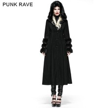 LY-036 Punk Rave Gothic European Fashion Winter Coats With Hood