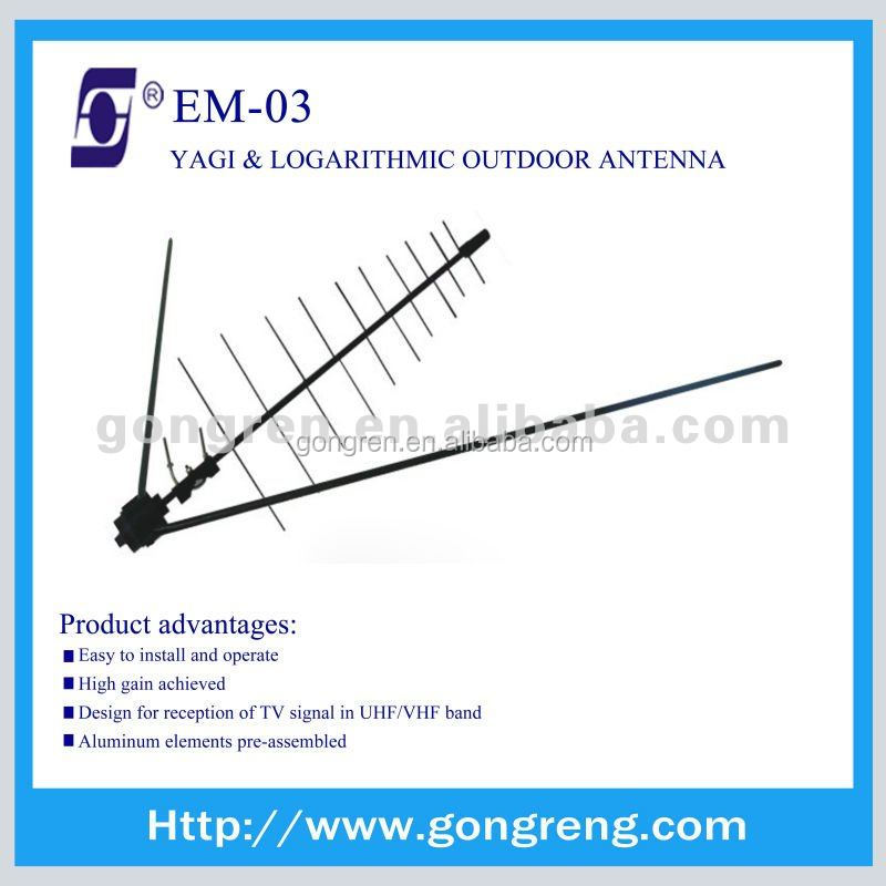yagi antenna outdoor uhf vhf tv cheap antena EM-03