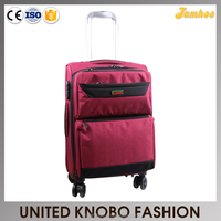 Polyester travel bag spinner trolley bag soft luggage bag cases
