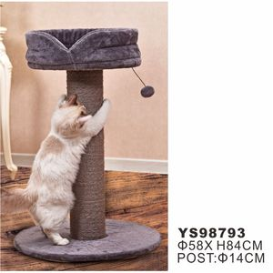 Plush Fur Cat Scratching Trees, Cat Scratching Post, with Toys