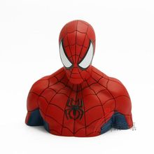 PVC plastic gifts coin bank Spiderman character shape piggy money box