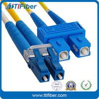 LC-SC Duplex Multimode Fiber Optic Patch Cable with LSZH Jacket