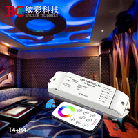 Hot sales 12v 24v rgbw led lamp controller with touch remote control