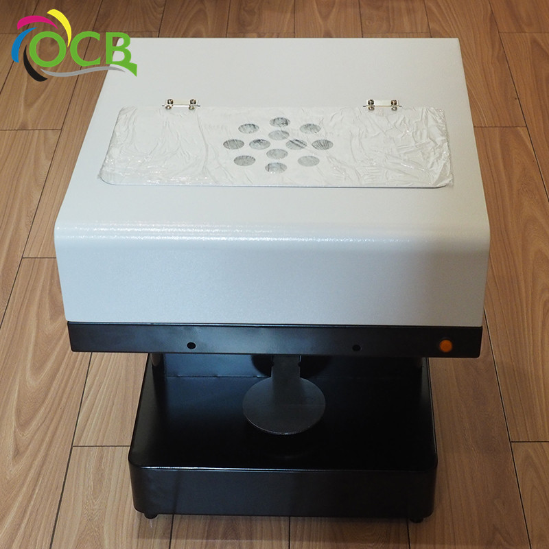 Ocbestjet china supplier 3d coffee drink refreshment flatbed printer with edible ink