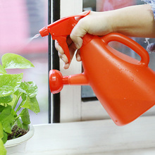 Dual-use plastic watering pot home watering spray hand-pressed watering can