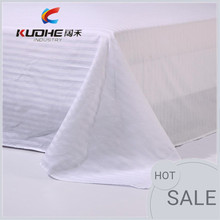 High Quality Wholesale White Sateen/Satin Stripe Bedding Fabric