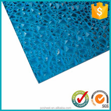 Bayer raw material pc embossed polycarbonate sheet used for inside and outside roofing decoration