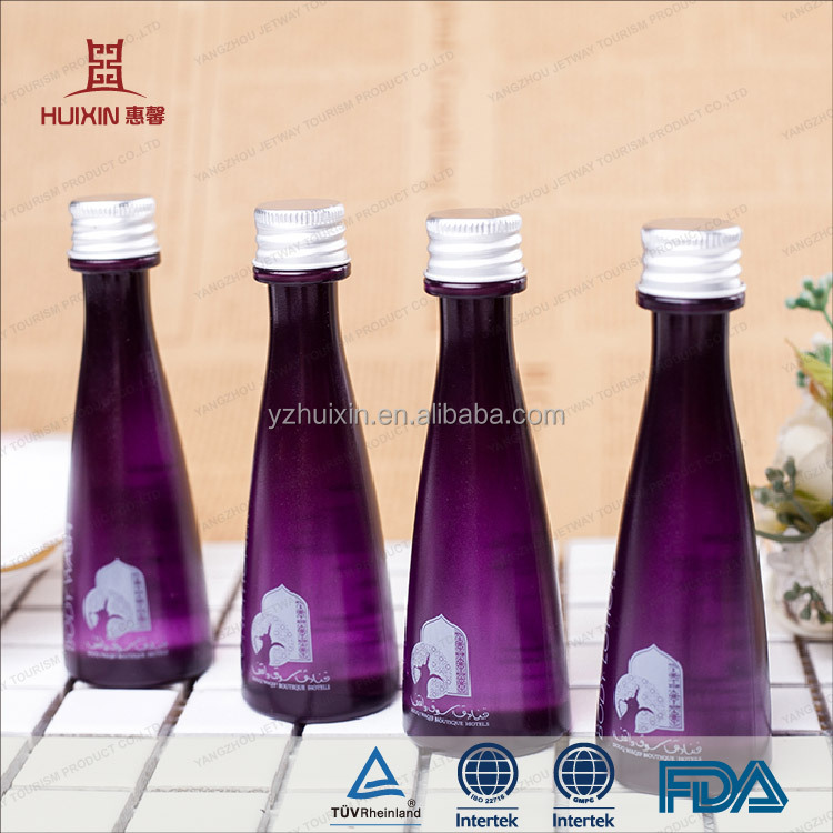 JET-BO-008 Cone shape purple color 25ml shampoo for hotel