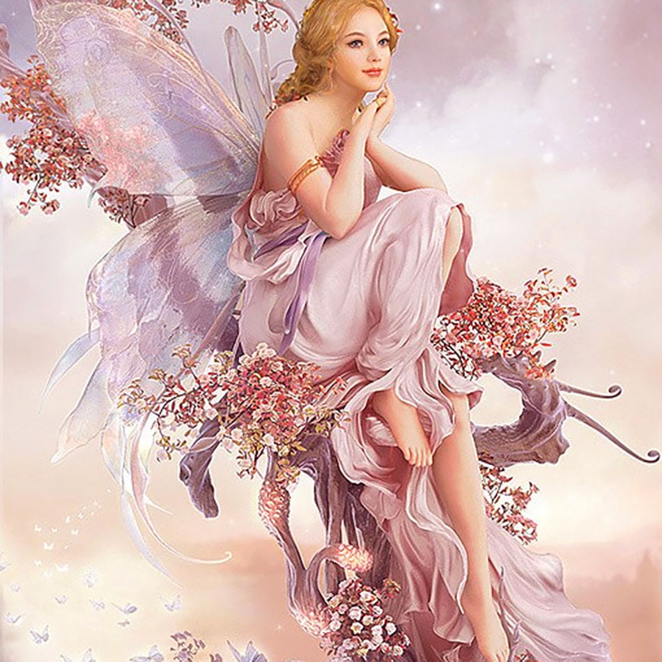 Old Street Home Butterfly fairy DIY Crystal full cross stitch kit <strong>art</strong> 3Dmosaic square rhinestone 5D plastic diamond painting