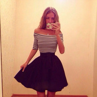 fashion women sexy pin up stripe dress short skirt cheap china wholesale clothing