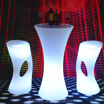 Multifunctional polywood led furniture made in China