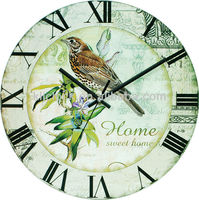 Kids Door Alarms Wall Clock Bird Dial Design