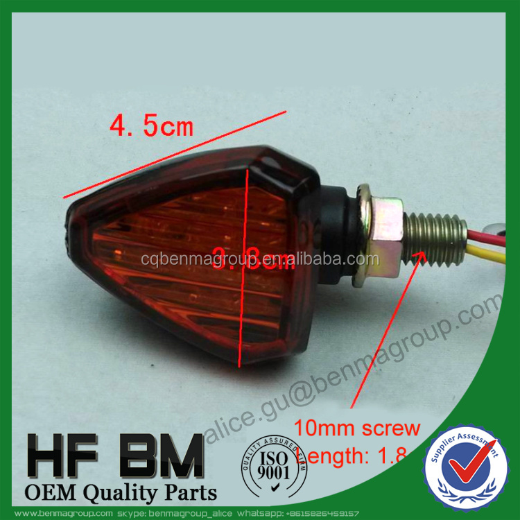 Motorcycle turn light Stereoscopic trangle LED turn signal modified off-road turn signal light motorcycle corner lamp