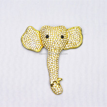 Fashion elephant rhinestone buckle metal decoration accessories for women shoe