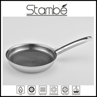 Europe best selling stainless steel non stick technique cookware with carved pattern inside