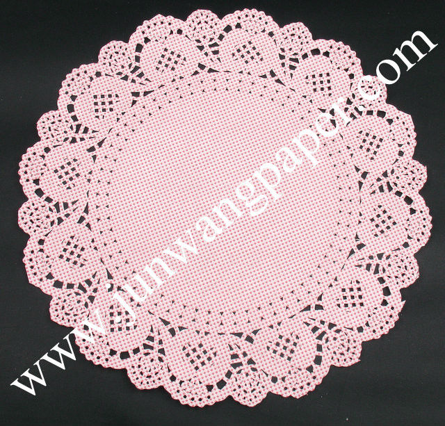New R&D food grade all size various design colored paper doilies!