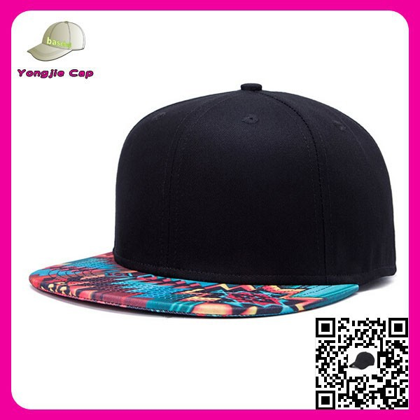 Fashion Factory custom plain snap back flat peaked design your own snapback caps with team logo