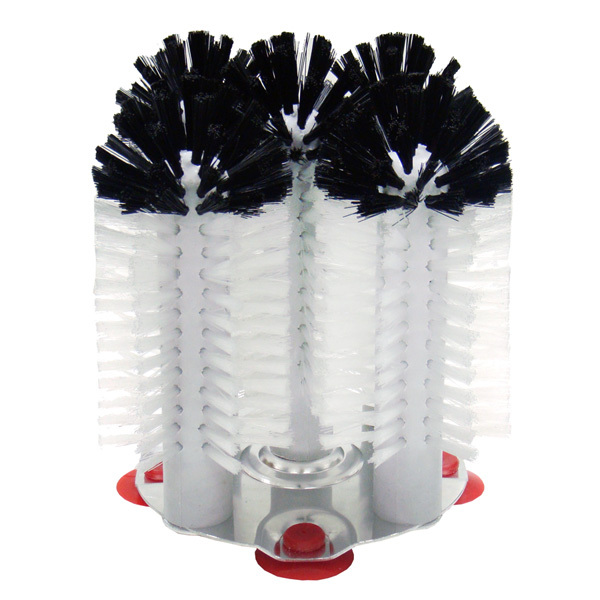 Bar Round Shaped Beer Mug Plastic Brush Portable Glass Washer