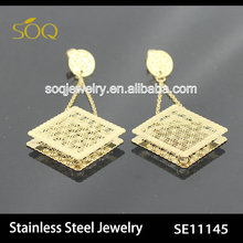 SE11145 stainless steel earring,fashion gold earring 2014 fashion jewelry