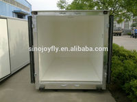 closed box truck/closed box semi truck/ aluminum box semi truck wall panel kits insulated van truck body frp