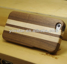 Walnut + Maple Mixed Natural Wooden Hard Wood Cover Case for iPhone 5