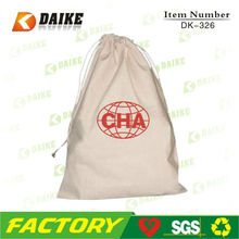 Custom Printed Organic Cotton Shoe Bag for Professional Factory