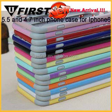 2014 NEW PRODUCT transparent and colourful TPU frame mobile phone case for iphone6 plus