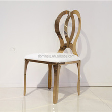 hot sale high quality gold stainless steel circle back design dining chair