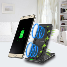 Wholesale High Quality Table Using Mobile Charger 2 Coils Fast Wireless Charging Stand with Fan