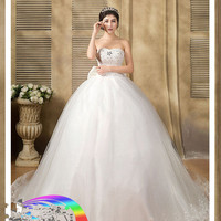 Z91707A Quality fabric heavy handmade High quality wedding dress arabic alibaba wedding dress