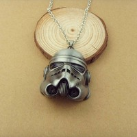Hot Sale Stormtrooper necklace Metal Telescopic Lightsaber Pendant necklace Wholesale KN-290