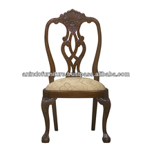 Mahogany Classic Arms Dining Chair with Carved