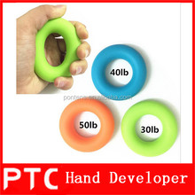 Silicone circle hand exercise gripper set / hand muscle developer