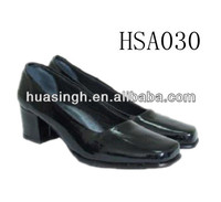 GH,uniform dress style lady leather meeting/business office shoes middle heel