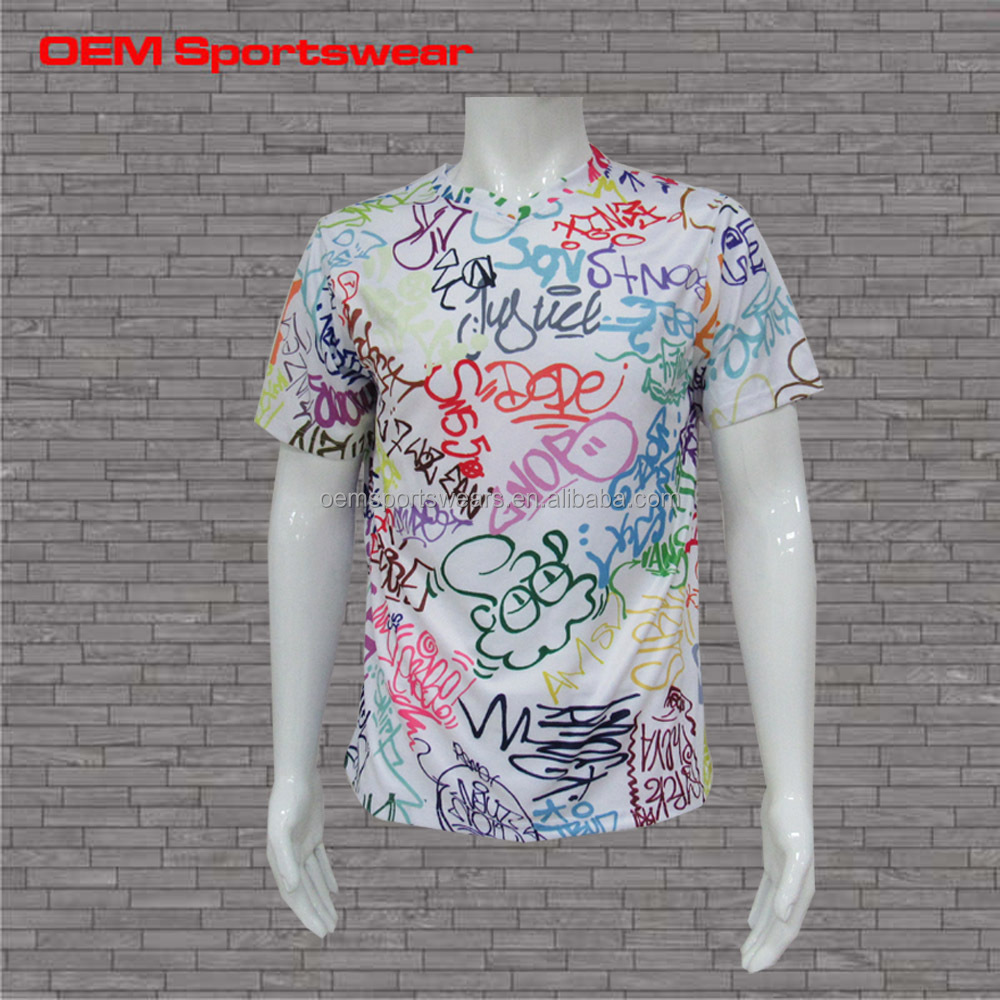 All over print custom t shirts couple fashion t shirt for All over printing t shirts