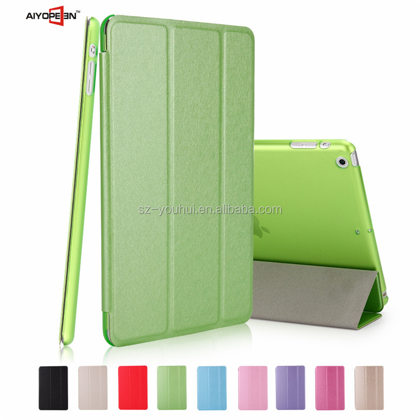 High Quality and Leisure Silk Pattern PU smart cover case for iPad mini 1/2/3 Tablet case