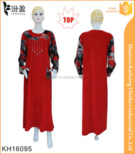 islamic muslim kaftan abaya&jilbab/beads muslim abaya dress