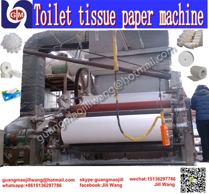 Zhengzhou guangmao HOT SELL hemp toilet paper machinery to product kitchen paper for toilet paper production