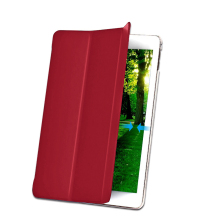 Factory Supplier Smart cover for iPad Pro 9.7'' with Pencil Sleeve and Stand View Red Color