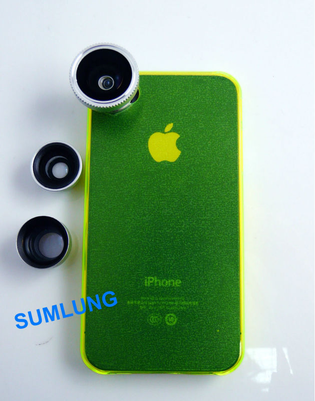 Magnetic Fisheye Lens Case for iPhone 5 5S 5C+ Metal Adapter Ring